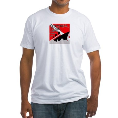 Shipwreck Diver Flag Fitted T-Shirt