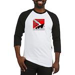 Shipwreck Diver Flag Baseball Jersey