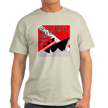 Shipwreck Diver Flag Light T-Shirt