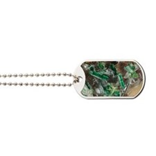 Tourmaline crystals in quartz Dog Tags