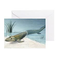 Tiktaalik prehistoric fish, artwork Greeting Card