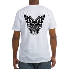 Butterfly Wings on back Fitted T-Shirt