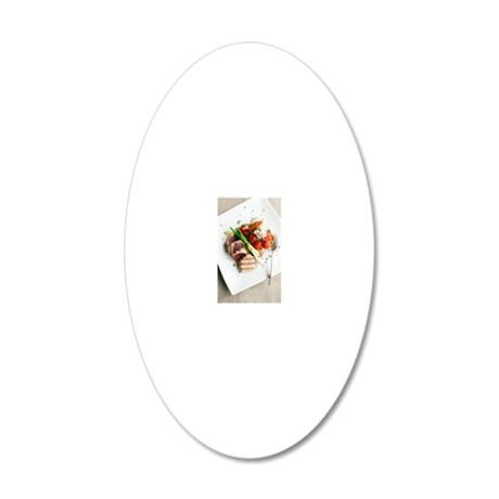 Healthy meal 20x12 Oval Wall Decal