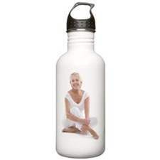 Happy senior woman Sports Water Bottle