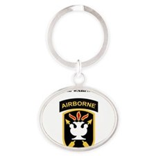SSI - JFK Special Warfare Center wit Oval Keychain
