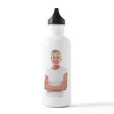 Happy senior woman Sports Water Bottle