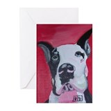 Great dane black Greeting Cards (Pk of 10)