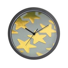 Gold star stickers Wall Clock