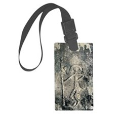 Stone Age rock carving Luggage Tag