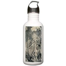Stone Age rock carving Water Bottle