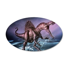 Spinosaurus dinosaur 35x21 Oval Wall Decal