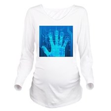 Fingerprint scanner, Long Sleeve Maternity T-Shirt