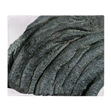 Solidified pahoehoe lava Throw Blanket
