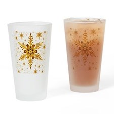 Snowflakes Drinking Glass