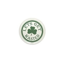 Let's Get Wasted Mini Button (100 pack)