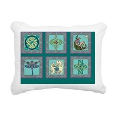 Celtic art Sampler Rectangular Canvas Pillow
