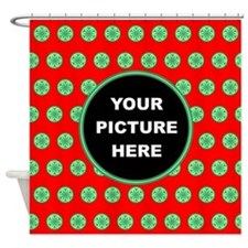 Customized Xmas Design Shower Curtain
