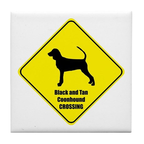 Coonhound Crossing Tile Coaster