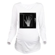 Normal hand, digital Long Sleeve Maternity T-Shirt
