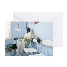 Elderly patient Greeting Card