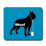 iWoof Boston Terrier Mousepad