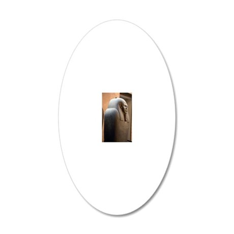 Sarcophagus of Ahmes 20x12 Oval Wall Decal