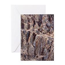 Sandstone rock strata Greeting Card