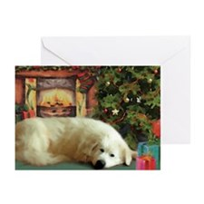 Great Pyrenees Cards, Pk Of 10, Christmas Eve Gree