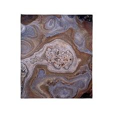 Sandstone rock strata Throw Blanket