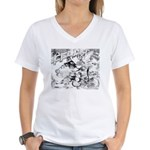 English Trumpeter Group Women's V-Neck T-Shirt