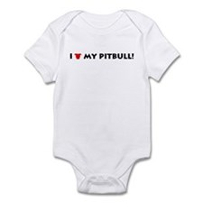 I Love My Pitbull! Infant Bodysuit