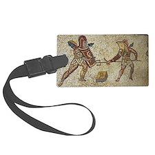 Roman mosaic of gladiators Luggage Tag