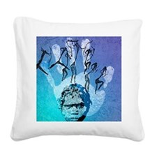 Rock painting Square Canvas Pillow