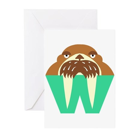 W is for Walrus Greeting Cards (Pk of 10)