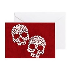 Heart Skull Greeting Card