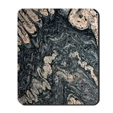 Ptygmatic folds in gneiss rock Mousepad