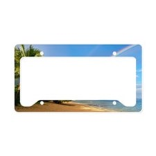 Rainbow kauai beach License Plate Holder