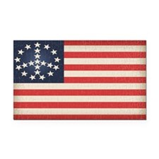 Peace Flag 2 -stkr Rectangle Car Magnet