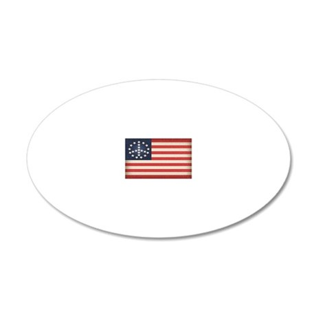 Peace Flag 2 -stkr 20x12 Oval Wall Decal