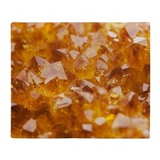 Citrine crystals Throw Blanket