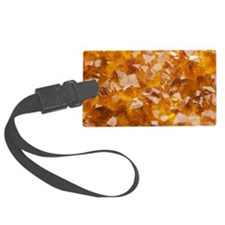 Citrine crystals Large Luggage Tag