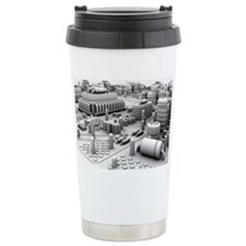 Circuit board, artwork Ceramic Travel Mug