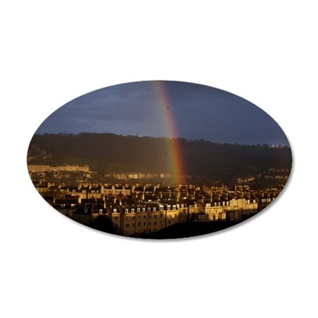 Rainbow over Pulteney Street 35x21 Oval Wall Decal