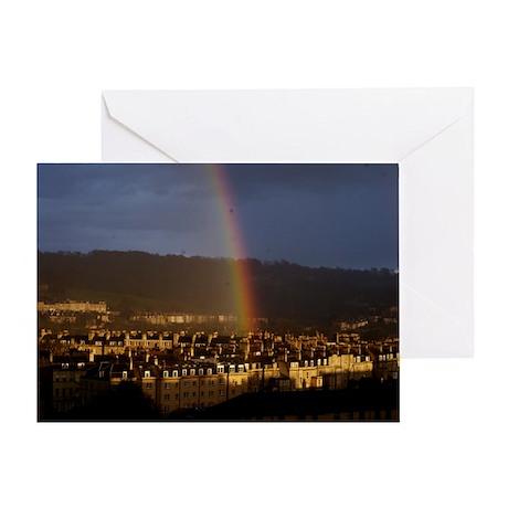 Rainbow over Pulteney Street Greeting Card