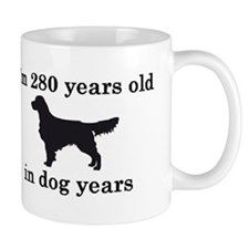 40 birthday dog years golden retriever 2 Coffee Mugs