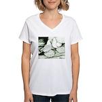 Ice Pigeons Women's V-Neck T-Shirt