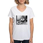 Splash English Trumpeter Women's V-Neck T-Shirt