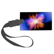 Particle collision, artwork Luggage Tag
