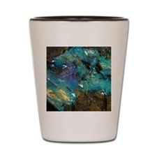 Opal on bedrock Shot Glass