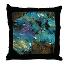 Opal on bedrock Throw Pillow